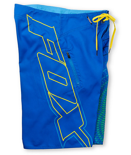 Fox V3 Blue Board Shorts