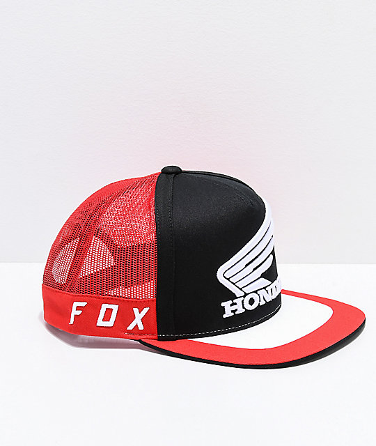 Fox x Honda Black, Red & White Trucker Hat