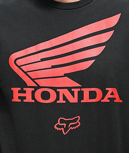 quite nice buying new limited guantity Fox x Honda Black T-Shirt   Zumiez