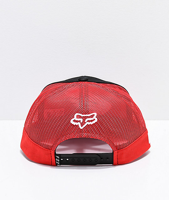 ... Fox x Honda gorra de camionero negra 9fb6130e98d