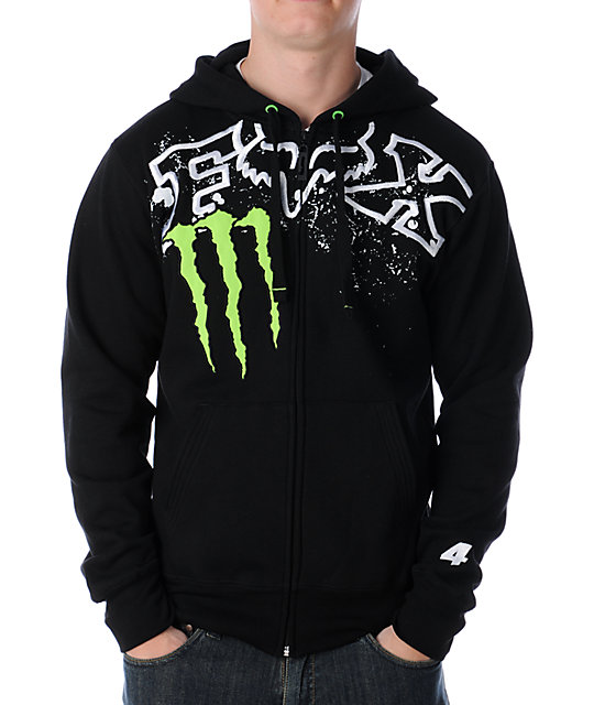 Fox x Monster Energy Chop Carmichael Replica Black Hoodie