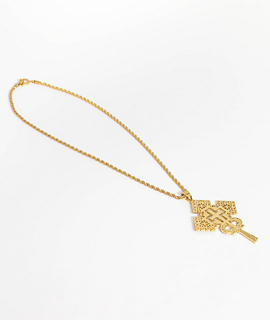 Frank 151 Island Vibes Gold Pendant Necklace
