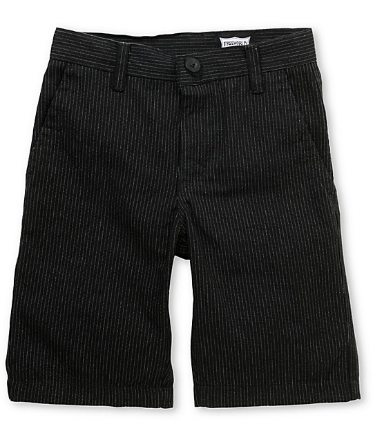 Free World Bandit Black Pinstripe Boys Shorts