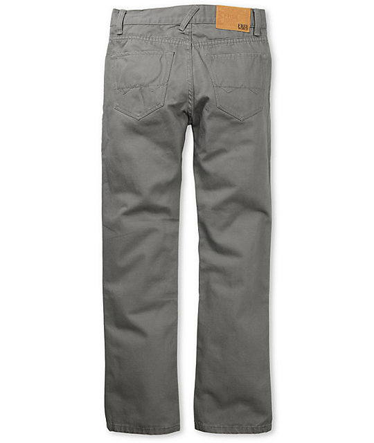 Free World Boys Messenger Grey Chino Pants