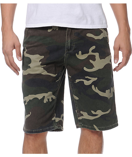 Free World Caine Camo Chino Shorts