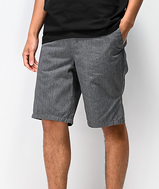 Free World Discord Dark Heather Grey Chino Shorts