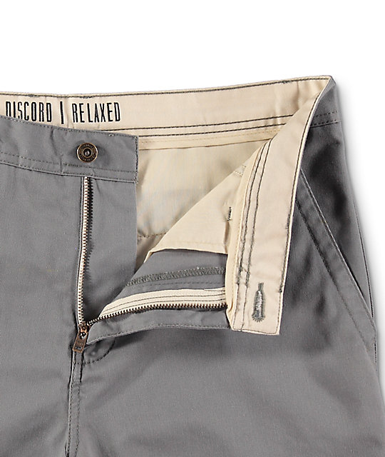 Free World Discord Grey Chino Shorts