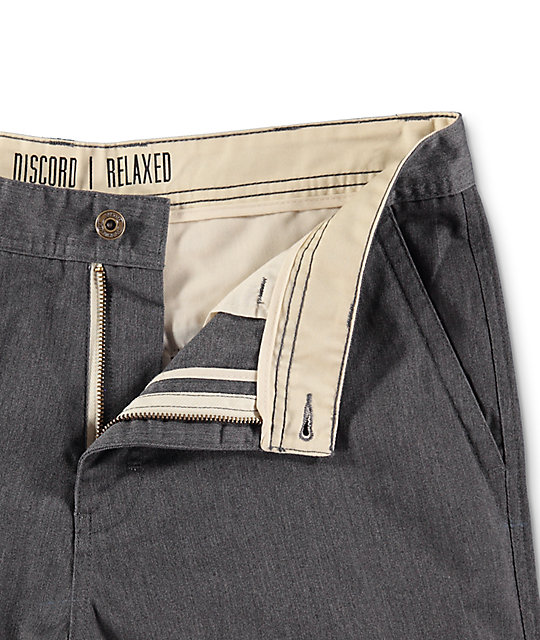 Free World Discord Heather Grey Chino Shorts