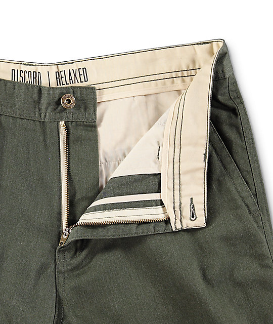 Free World Discord Heather Olive Chino Shorts