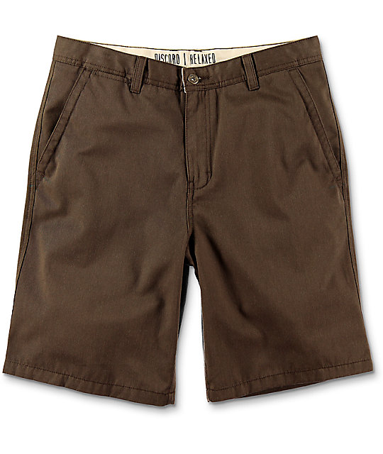 Free World Discord shorts chinos en color café