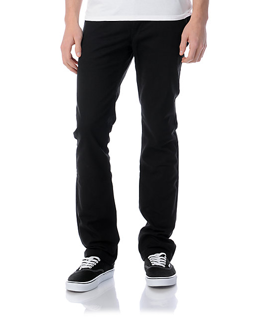Free World Drifter Regular Fit Black Chino Pants