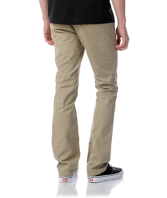 Free World Drifter Slim Straight Fit Khaki Chino Pants