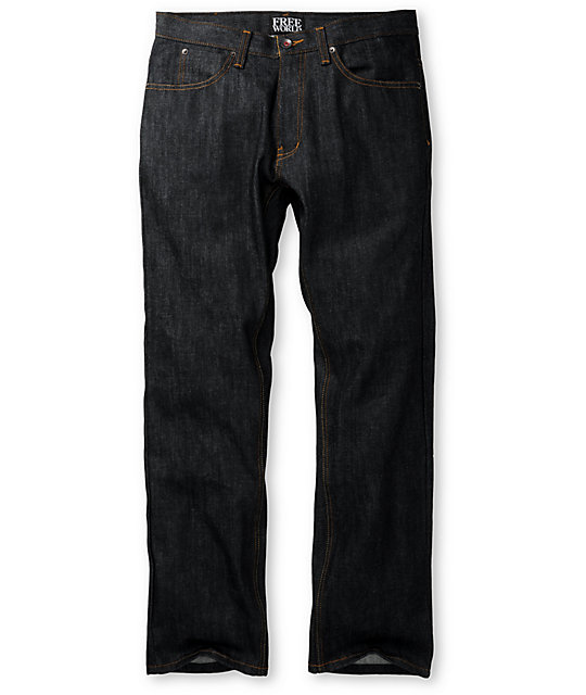 Free World Garage Raw Wash Relaxed Fit Jeans