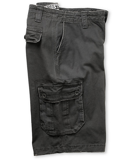 Free World Holyoke Charcoal Cargo Shorts
