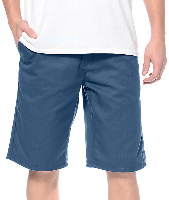 Free World Hooligan Deep Teal Chino Shorts
