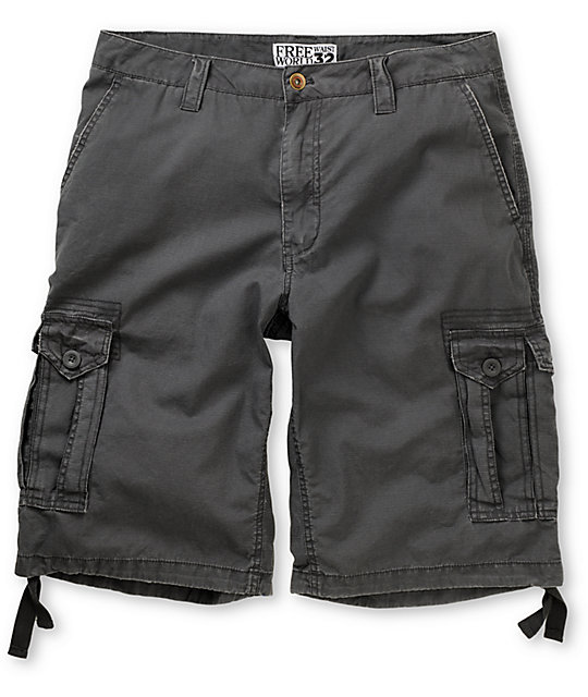 Free World Manchester Grey Cargo Shorts