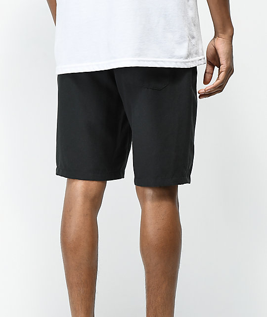 Free World Maverick Black Hybrid Shorts
