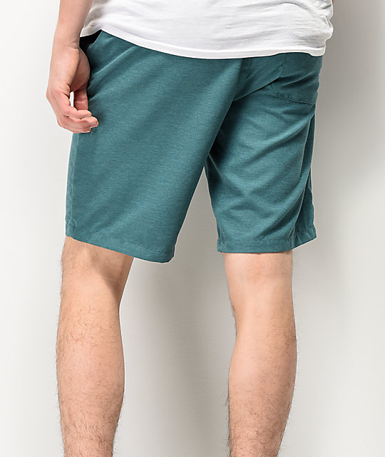 Free World Maverick shorts híbridos en verde azul
