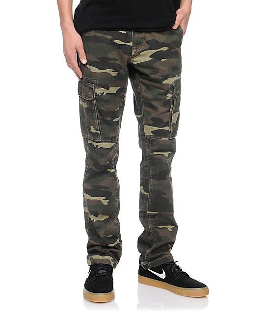 050b914c Free World Messenger Camo Skinny Cargo Pants | Zumiez