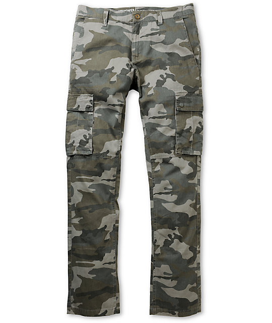 552bc0c7 Free World Messenger Camo Skinny Fit Cargo Pants | Zumiez