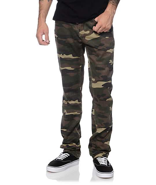 bdff3d17 Free World Messenger Camo Skinny Pants | Zumiez