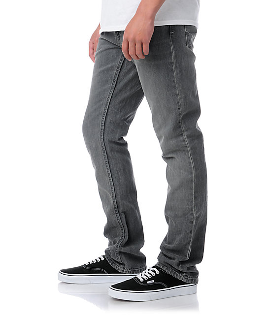 Free World Messenger Faded Grey Skinny Jeans