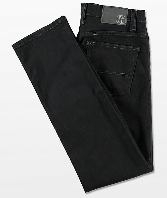 Free World Messenger Pure Black Stretch Skinny Jeans