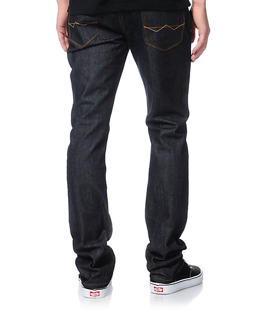 Free World Messenger Raw Ink Wash Skinny Jeans
