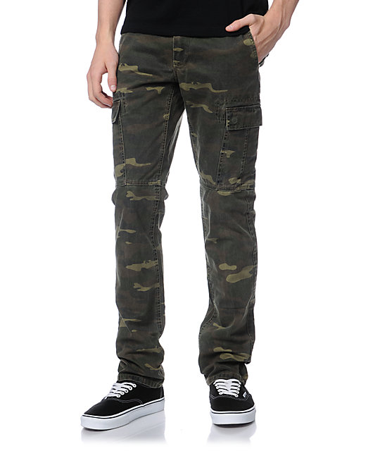 Free World Messenger Skinny Camo Cargo Pants