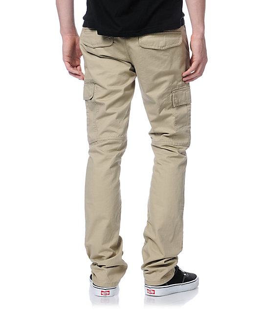 Free World Messenger Skinny Khaki Cargo Pants