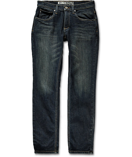 Free World Messenger Vintage Rinse Skinny Stretch Jeans (Past Season)