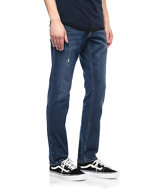 Free World Messenger skinny jeans azules