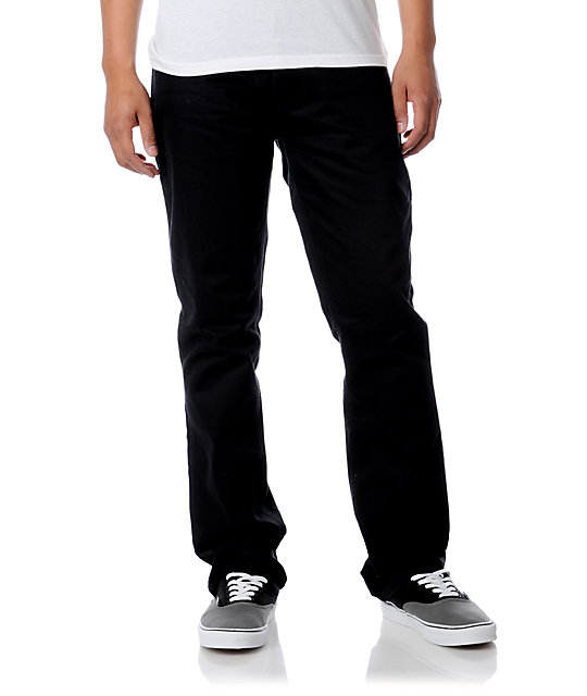 Free World Night Train Black Chino Pants