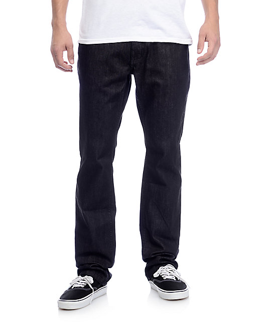 Free World Night Train Black Raw Denim Regular Fit Jeans
