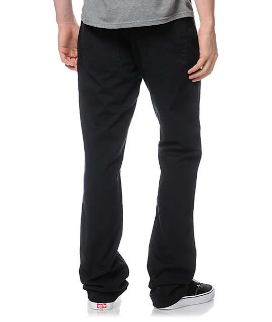 Free World Night Train Black Twill Pants