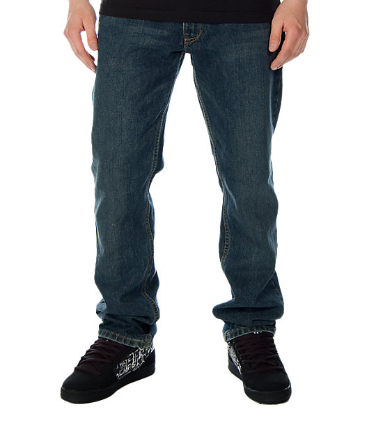 Free World Night Train Deep Sea Freeze Wash Regular Fit Jeans