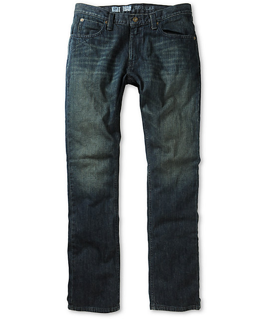 Free World Night Train Dirty Rinse Regular Fit Jeans (Past Season)