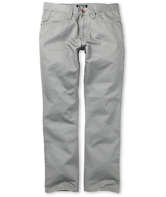 Free World Night Train Grey Twill Pants