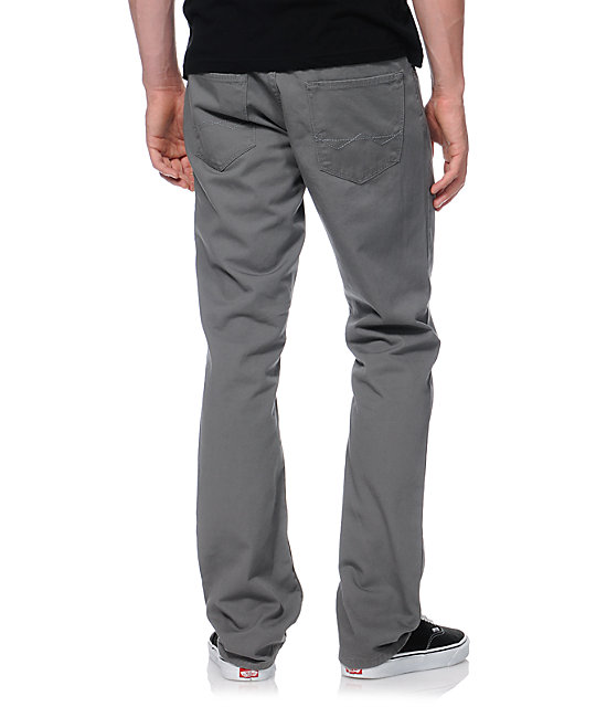Free World Night Train Grey Twill Regular Fit Pants