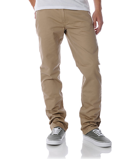 Free World Night Train Khaki Regular Fit Twill Pants