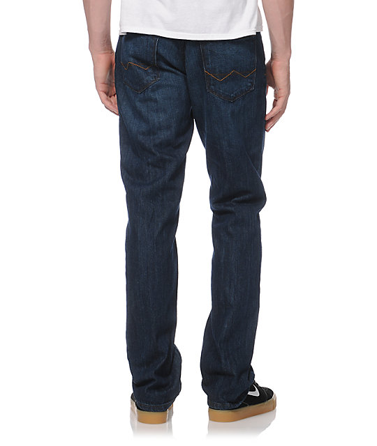Free World Night Train Medium Blue Tint Regular Fit Jeans