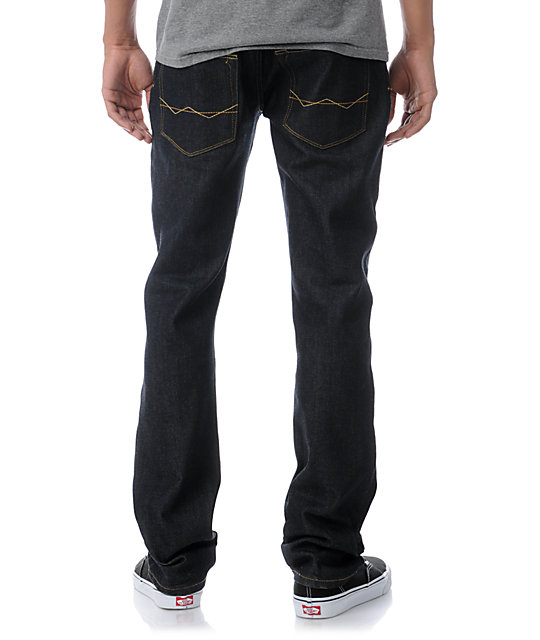 Free World Night Train Raw Regular Fit Jeans