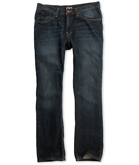 Free World Night Train Rinse Tint Regular Fit Jeans