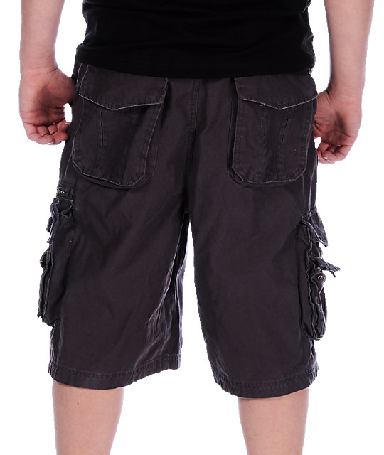 Free World Norris Grey Cargo Shorts
