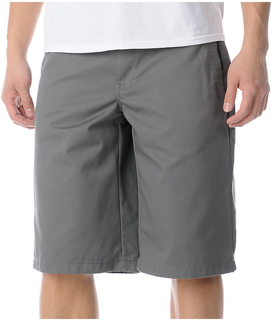 Free World Part Time Grey Chino Shorts