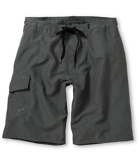Free World Pipeline Charcoal 21 Board Shorts