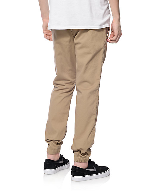 Free World Remy Khaki Jogger Pants