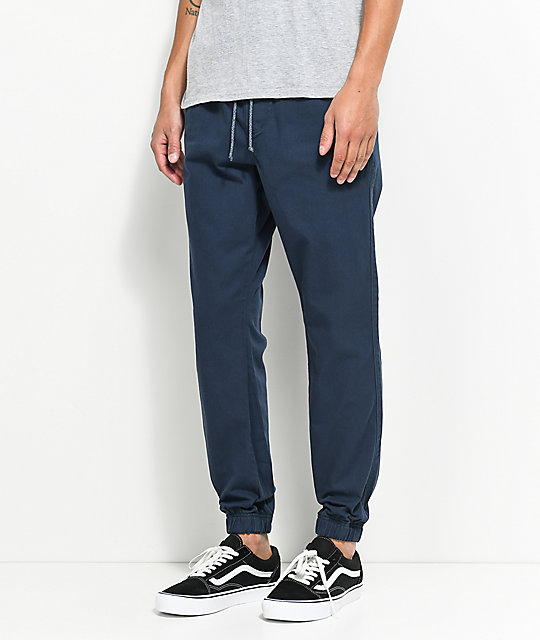 Free World Remy Navy Elastic Waist Jogger Pants