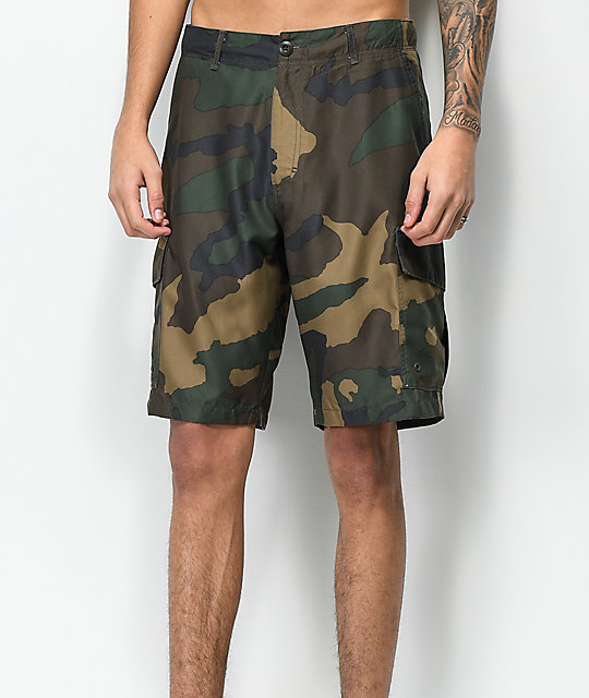 Free World Supertubes Camo Cargo Hybrid Shorts