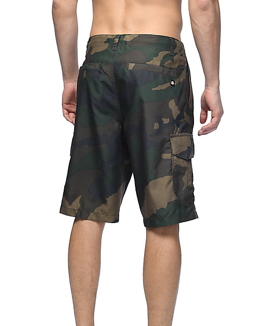 Free World Supertubes shorts híbridos camuflados